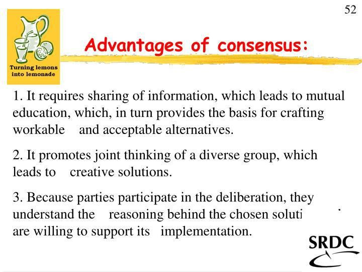 PPT - Advantages of consensus: PowerPoint Presentation - ID:807756