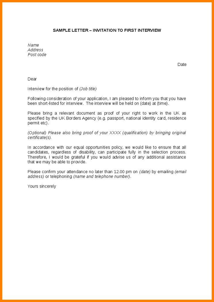 13+ application for interview letter samples | ledger paper