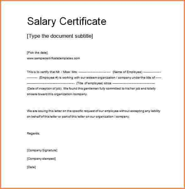 7+ salary proof letter template | Sales Slip Template