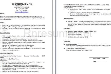critical care rn resume sample reentrycorps