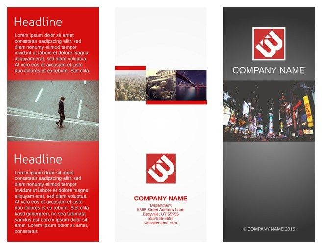 Sample Tri Fold Brochure. Corporate Tri Fold Brochure Template ...