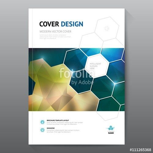 Blue annual report Leaflet Brochure Flyer template A4 size design ...