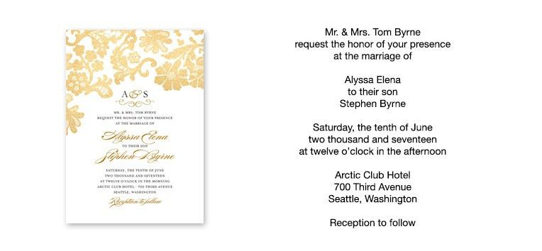 Wonderful Wedding Invitation Wording Samples | THERUNTIME.COM