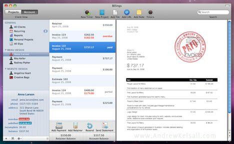 Billings 3 for Mac OS X—Professional Invoicing