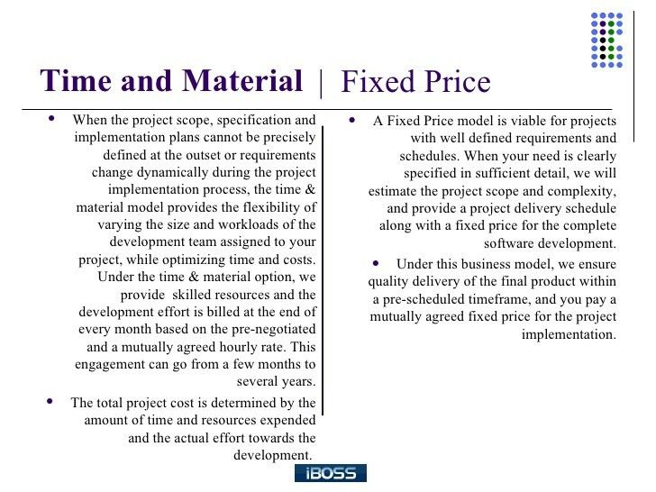 A Comparison Between Time And Material And Fixed Bid Engagement