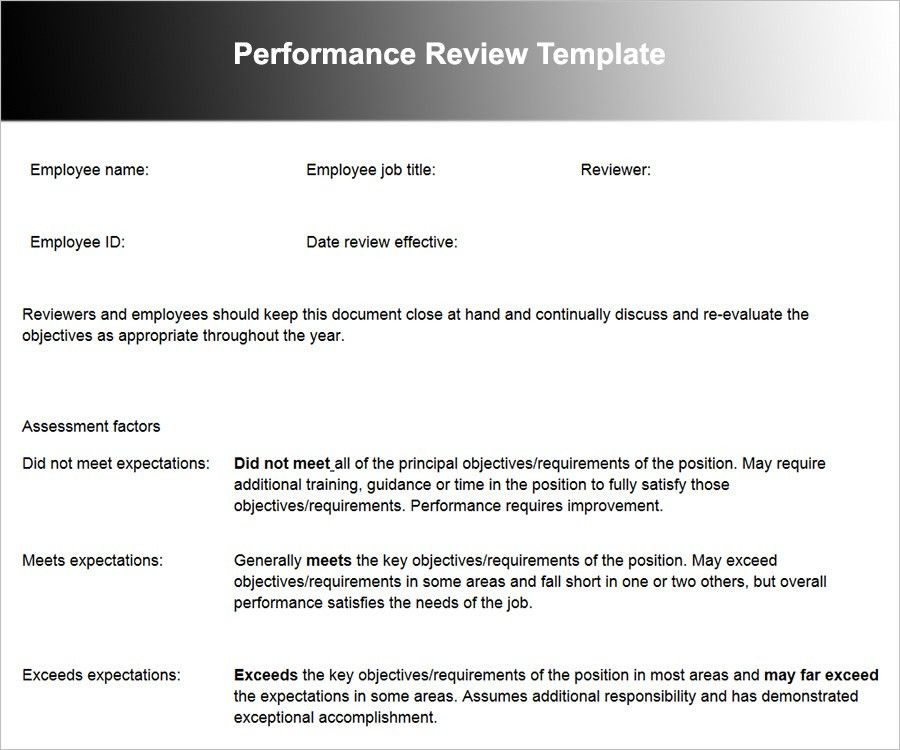 Employee Performance Review Templates | Free & Premium | Creative ...