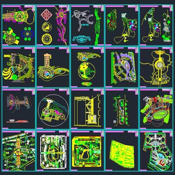 Landscape design Collection- designs, symbols and details for ...