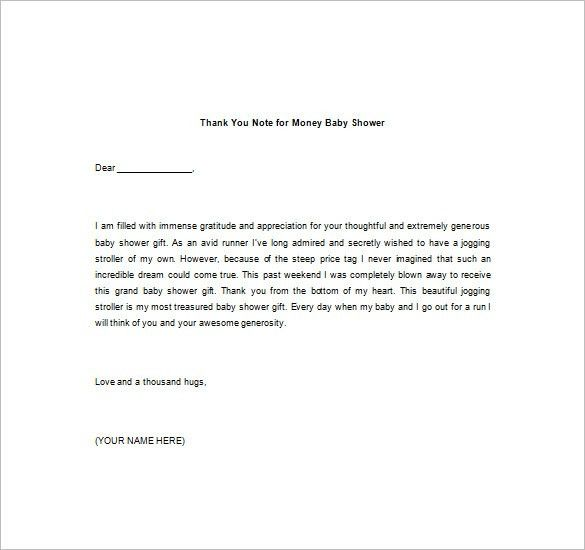8+ Thank You Note For Money – Free Sample, Example, Format ...