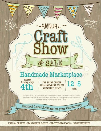 Craft show and sale poster design template | Sale poster, Craft ...