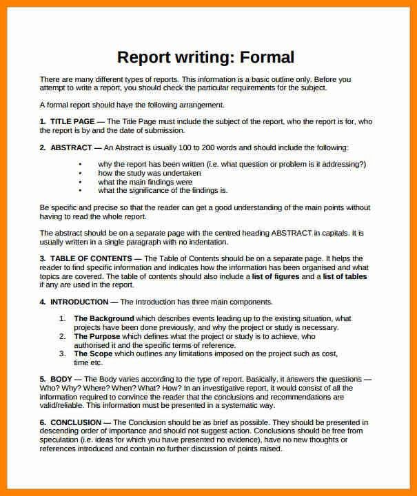 9+ sample of a formal report writing | buyer resume