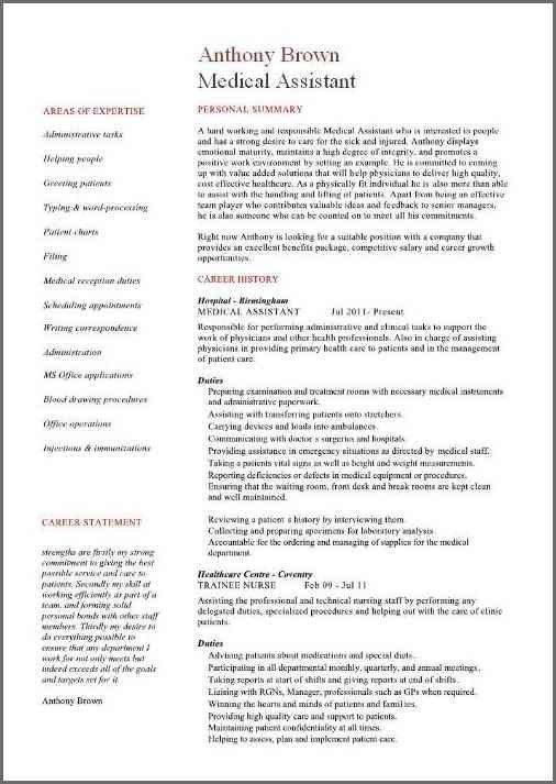 MEDICAL ASSISTANT RESUME SAMPLES | Bidproposalform.com