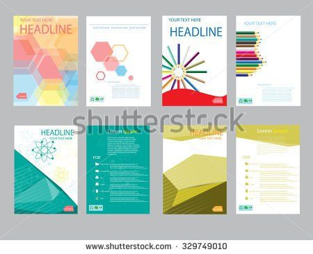 Design Cover Paper Report Abstract Geometric Stock Vector ...