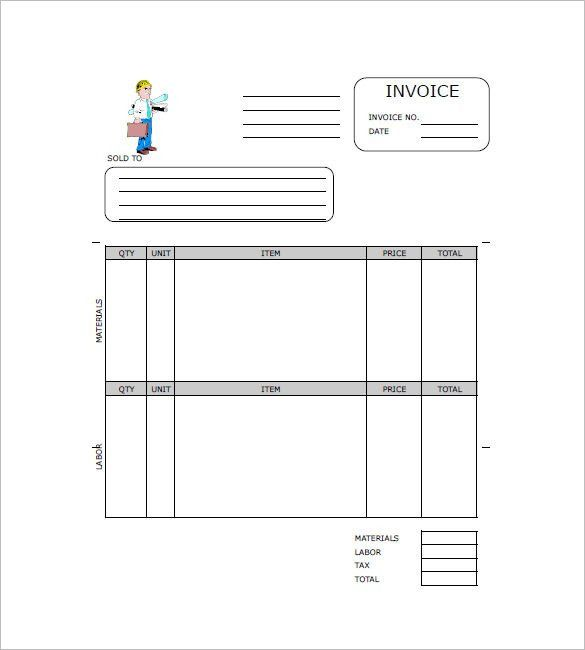Contractor Invoice Template – 8+ Free Sample, Example, Format ...