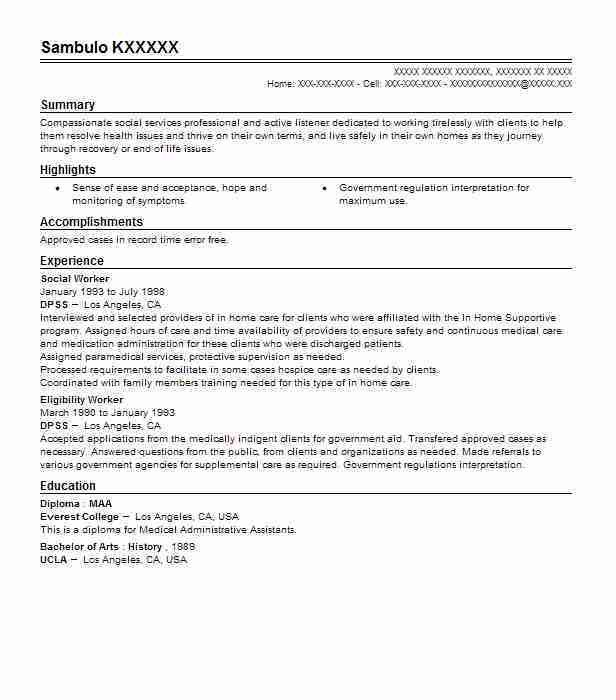 Best Social Worker Resume Example | LiveCareer
