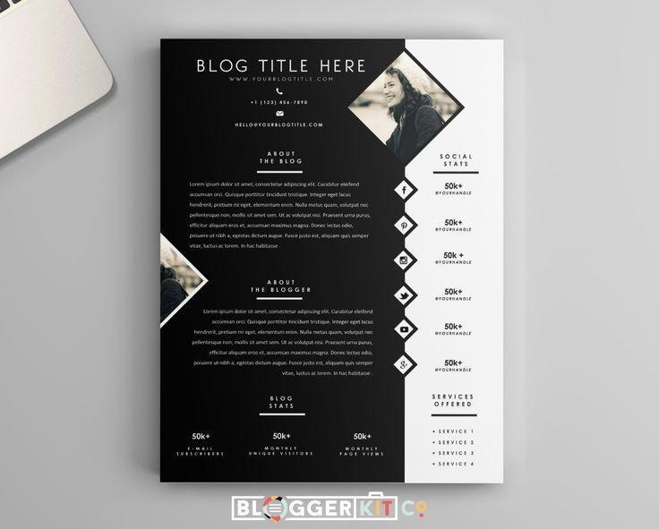 148 best Media Kit Templates + Tips images on Pinterest | Press ...