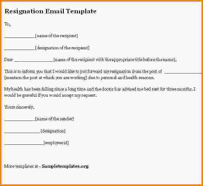 9+ resignation email sample | Letter Template Word
