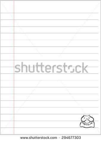 Worn Writingbook Lined Paper Background Coffee Stock Vector ...