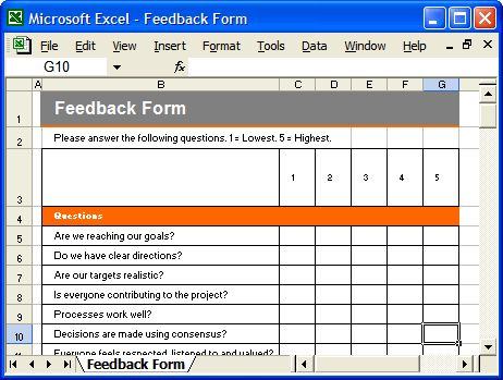 Communication Plan Template - Feedback Form - a photo on Flickriver