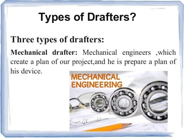 mechanical and computer drafting. it is also called. mechanical ...