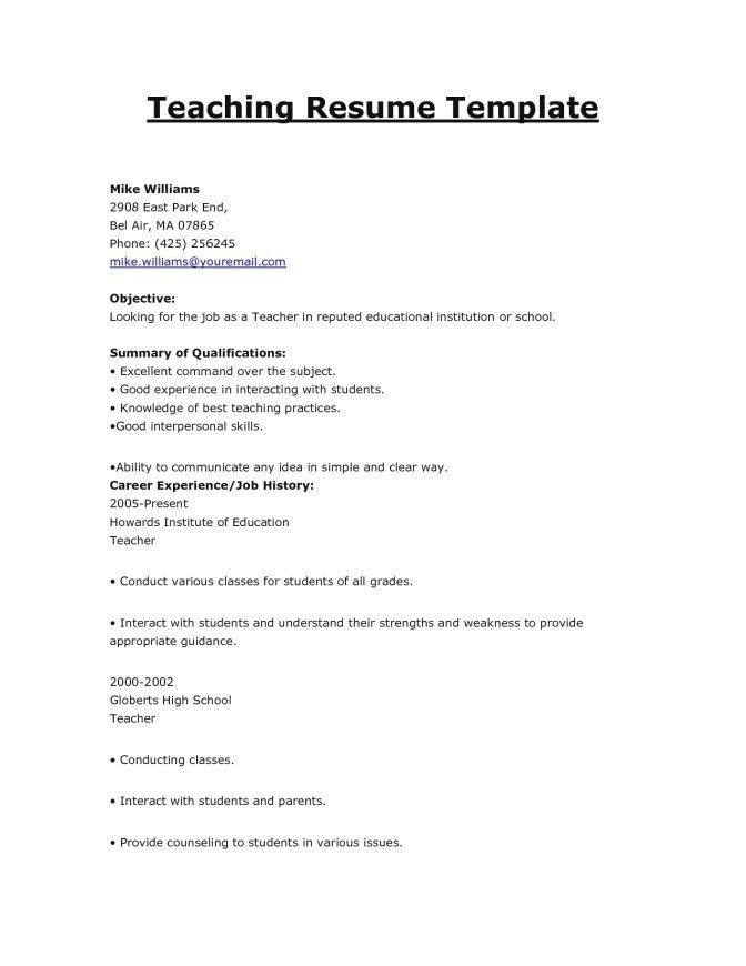 Resume For Teacher Recommendations - Best Resume Collection