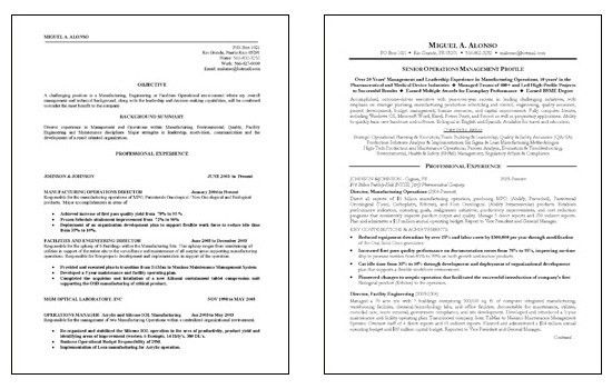 Operations Resume Example