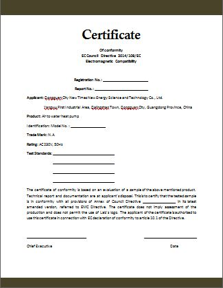 Conformity Certificate Template | Microsoft Word Templates