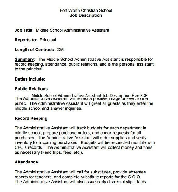 12+ Administrative Assistant Job Description Templates – Free ...