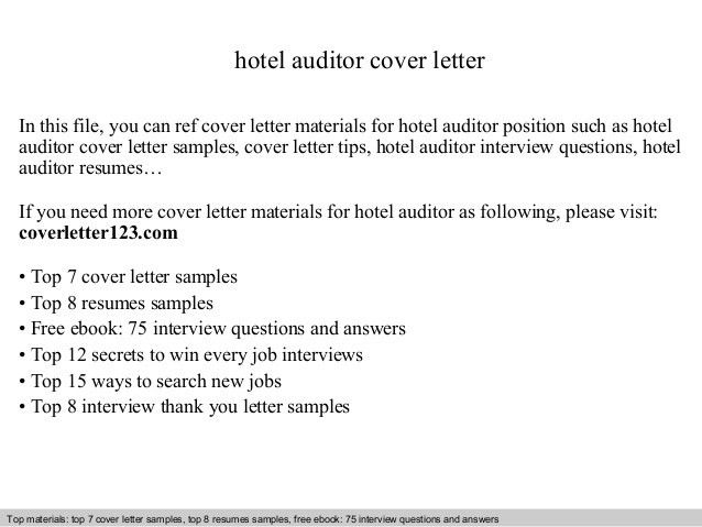 Information Technology Auditor Cover Letter - Resume Templates