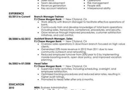 branch manager sample resume best branch manager resume example