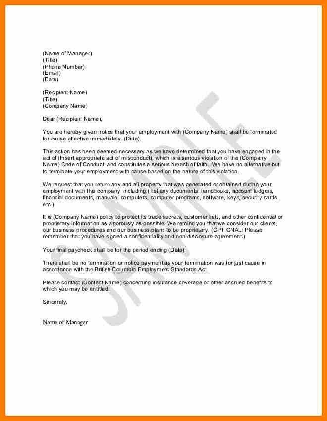 8+ termination letter template | sephora resume