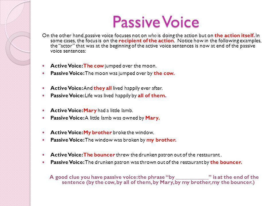 Active and Passive Voice - ppt video online download