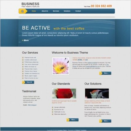 Big business Free website templates in css, html, js format for ...