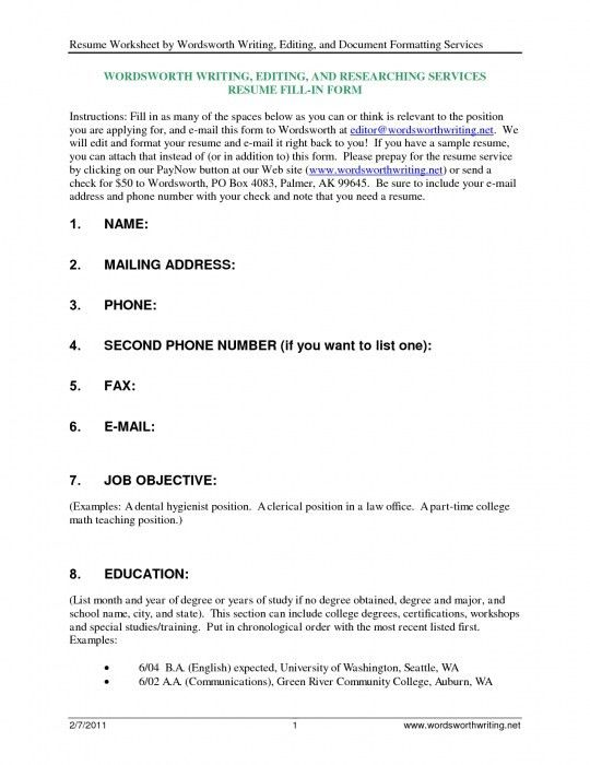 how to fill up a resume the elegant how to fill up a resume