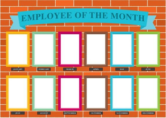 Employee Of The Month Wall Vector   Free Vector Download In .AI ...