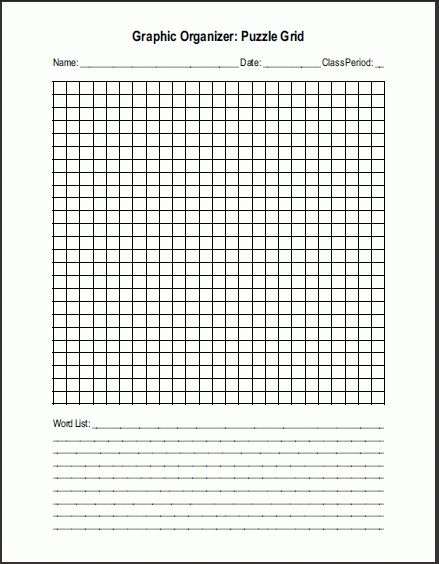 Free Printable Blank Word Search Puzzle Grid | Student Handouts