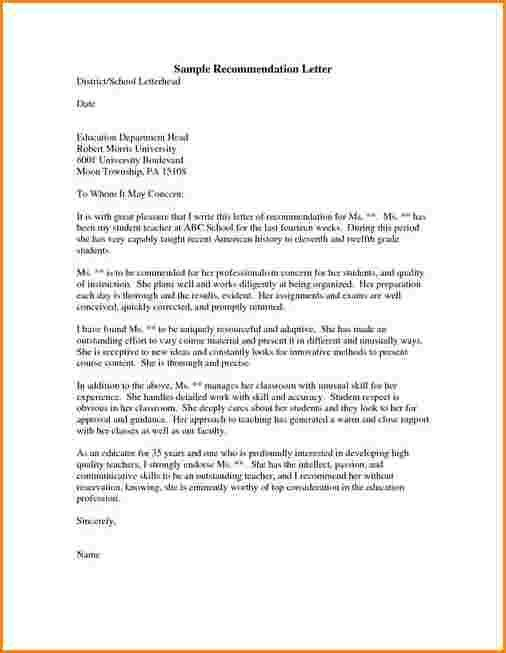 Scholarship Recommendation Letter. Cover Letters How To Write ...