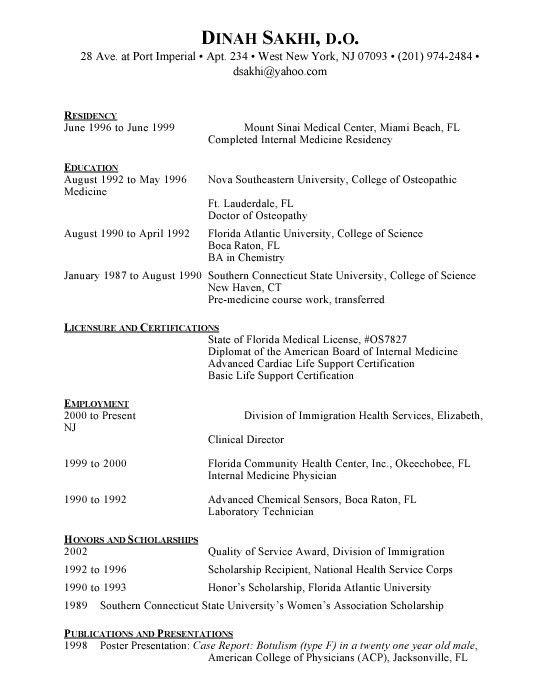 American Resume Sample | jennywashere.com