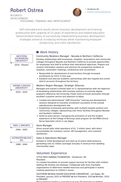 Community Relations Manager Resume samples - VisualCV resume ...