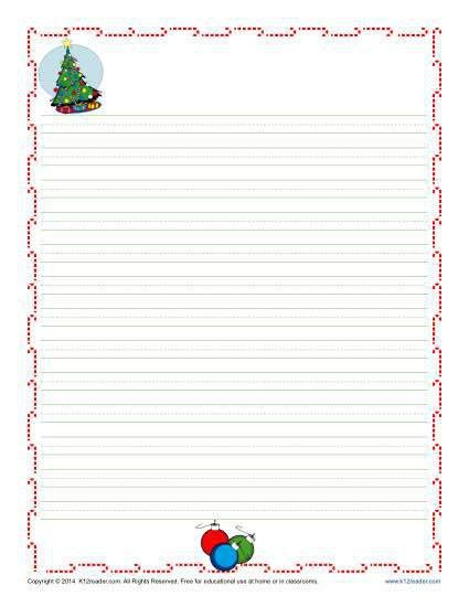 Christmas Writing Paper for Kids | Free, Printable Template