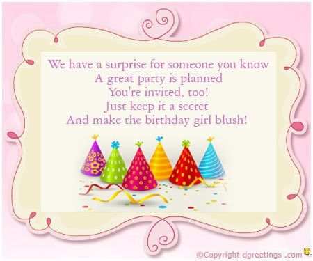 Girls Birthday Invitation Wording | Dgreetings.com