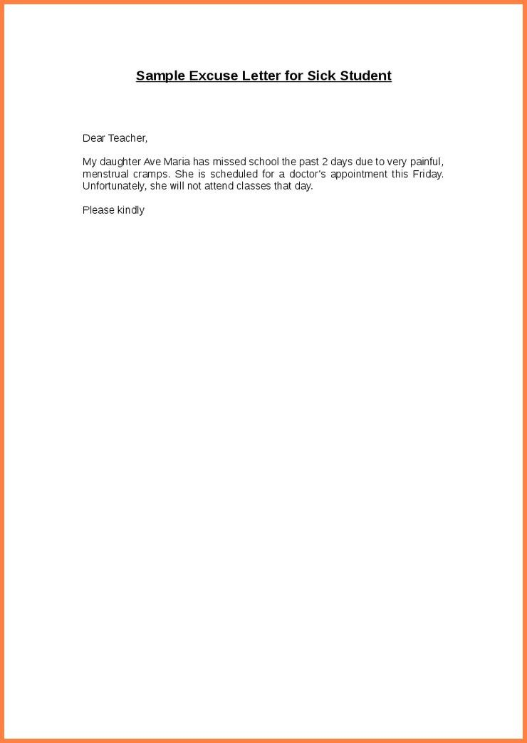 How To Write An Excused Absence Note For SchoolWritings and Papers ...