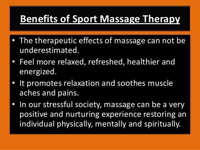 Sport massage therapy ppt