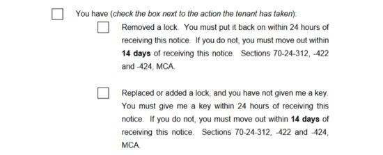 Free Montana Eviction Notice Forms | Process and Laws - PDF ...