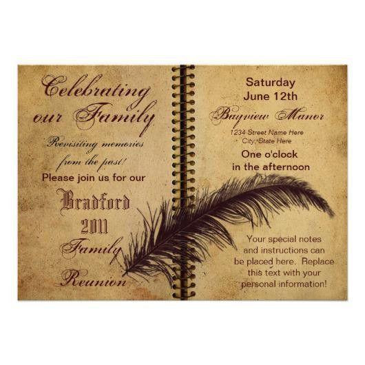 Family Reunion Invitations – Classic Design | Invitations 4 U