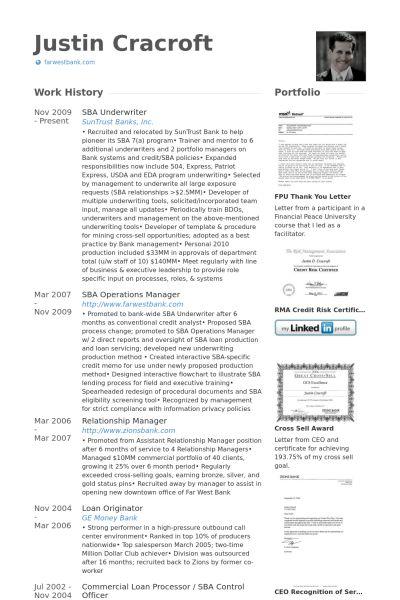 Souscripteur Exemple de CV - Base de données des CV de VisualCV