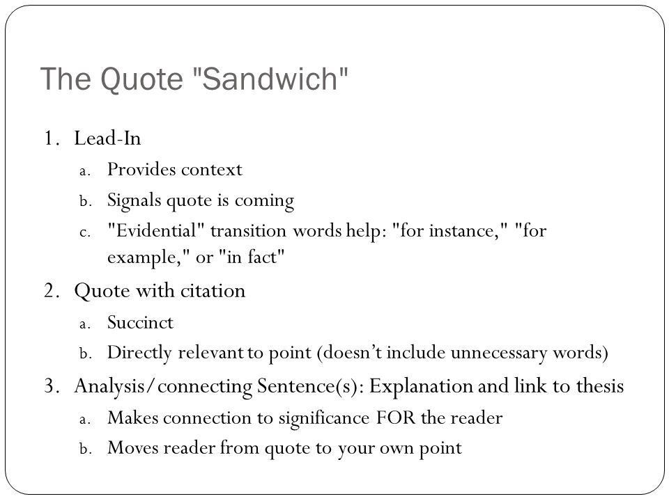 English 8 Notes about Quotes. WHY use quotes at all? Paraphrasing ...