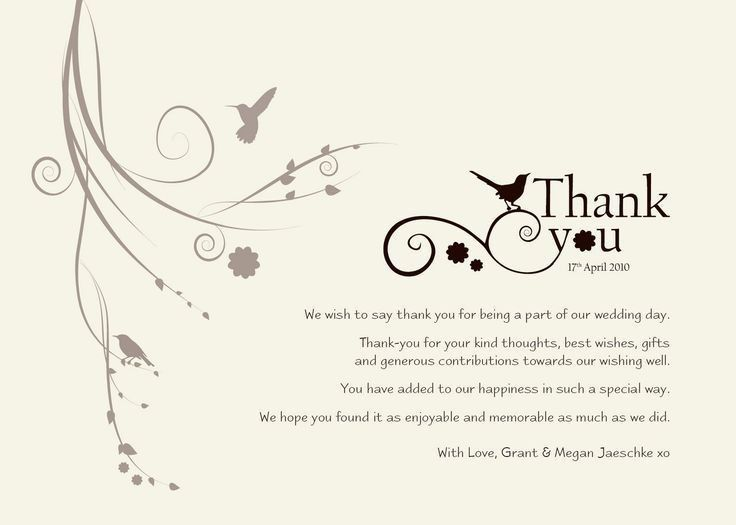 14 best Thank you card notes images on Pinterest | Wedding stuff ...