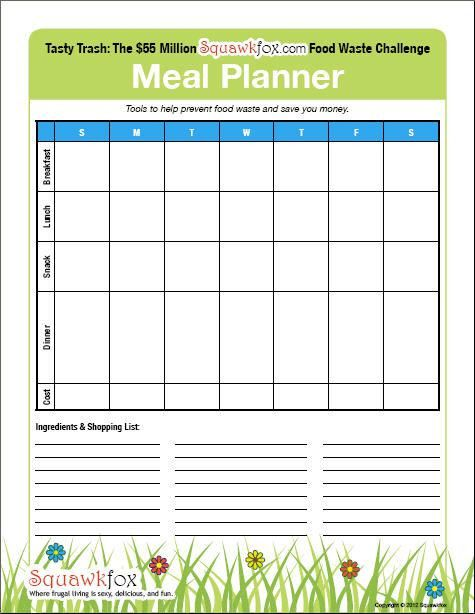 Meal Planning. Free Healthy Meal Planning Template, Plus Free ...