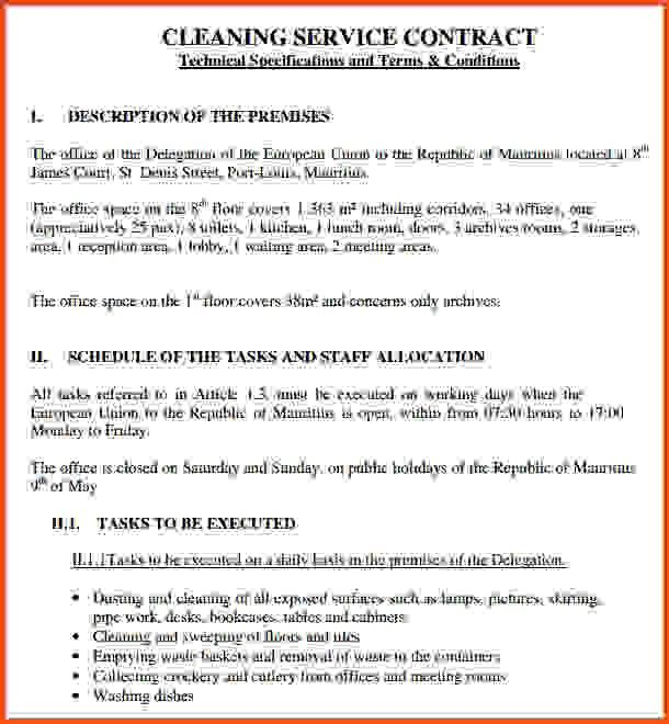 Service Contract. Service Contract Agreement Template Download ...