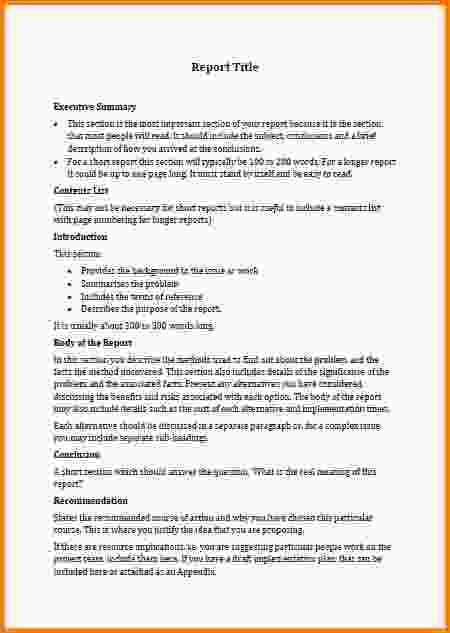 6+ business reports templates | Letter Template Word